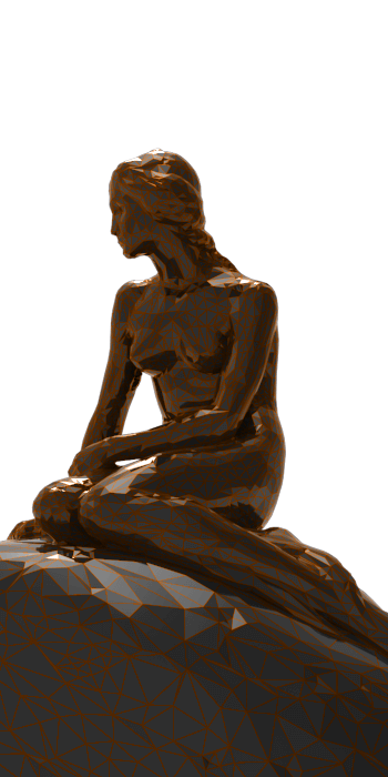 rigsters little mermaid 3d scan